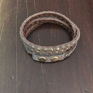 Free People Real leather wrap bracelet